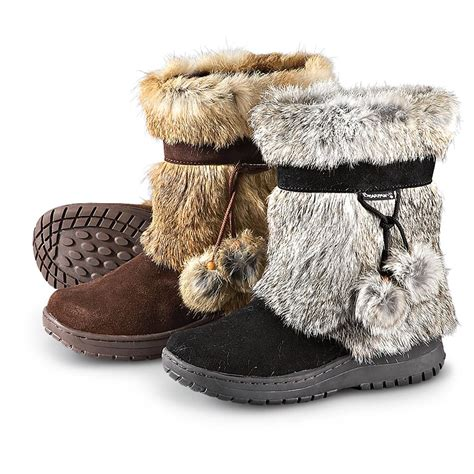 bearpaw boots fur s bearpaw 174 tama rabbit fur boots 166757 casual