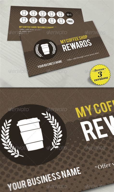 reward card template top 10 photoshop psd loyalty card templates