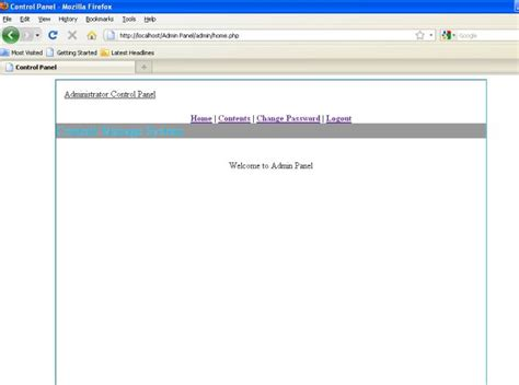 tutorial php admin panel panel php