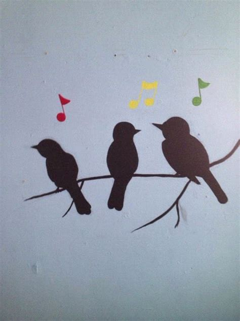 three little birds little birds and music notes on pinterest