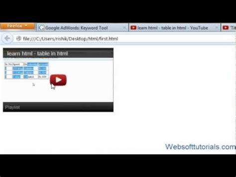 css tutorial embedded html and css tutorial 12 how to embed youtube video in