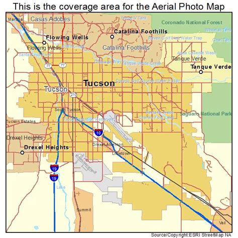 map of tucson aerial photography map of tucson az arizona