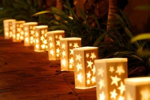 how to use wedding and candle bags luminaria