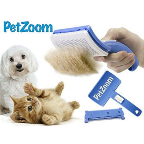 Sikat Sisir Grooming Bulu Kucing Anjing Dan Hewan Peliharaan jual petzoom pet zoom self cleaning grooming brush sisir sikat hewan promo baru