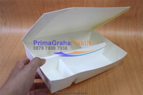 Seblak Kwetiaw 4 Pack kemasan kertas kertas quot quot box bento paper 5 sekat food grade stock ready home