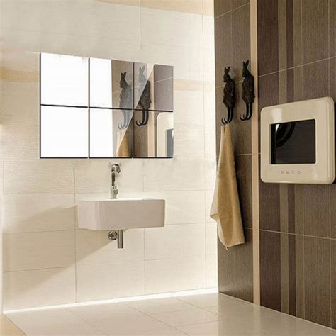 adhesive bathroom mirror 9pcs 15cm x 0 1mm bathroom removable self adhesive mosaic