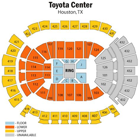 Seating At Toyota Center World Entertainment June 26 Tickets