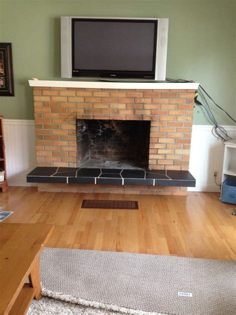 How To Modernize A Brick Fireplace by How To Update Brick Fireplace