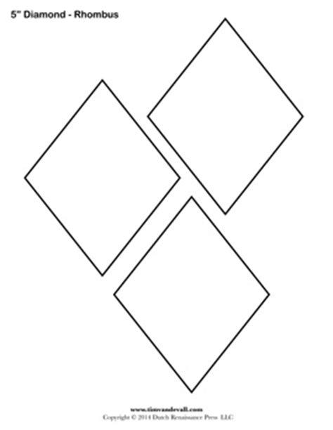 free printable rhombus shapes diamond templates printable rhombus shapes blank pdfs