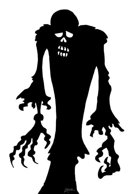 dave lowe design  blog  days til halloween zombie window silhouette printables