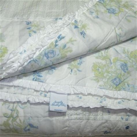 Simply Shabby Chic Bedding Blue by Simply Shabby Chic Blue Patchwork Garden Stripe Set