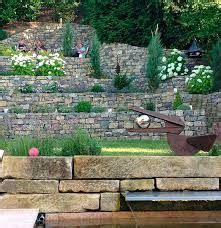 Garten Mediterran Anlegen 3742 gartengestaltung hanglage gabionen wohn design