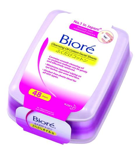 Biore Makeup Remover Cleansing Sheet Box biore cleansing cotton sheets reviews photo makeupalley