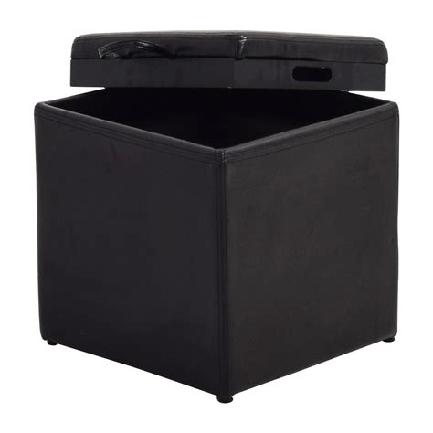 Storage Ottoman Black Leather 70 Black Leather Storage Ottoman With Smaller Ottoman Chairs