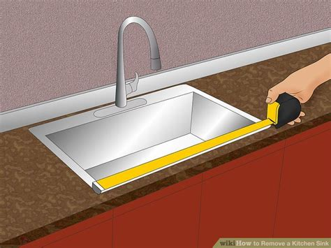 Removing Kitchen Sink How To Remove A Kitchen Sink 14 Steps With Pictures Wikihow