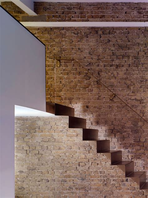 Brick Stairs Design This Minimalist Staircase Is Made From 6mm Thick Folded Steel Contemporist