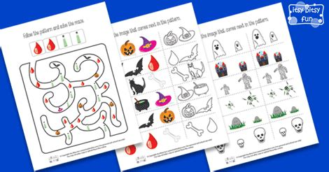 pattern recognition facebook halloween pattern recognition worksheets itsy bitsy fun