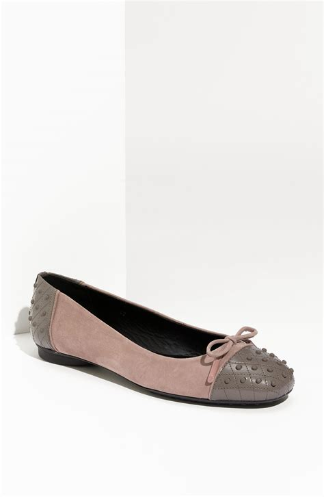 Flat Tods Suede 1 tod s ballerina gommini flat in pink blush suede grey