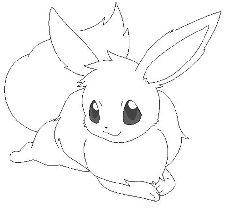 cute pokemon coloring pages eevee eevee lineart 10 by michy123 on deviantart