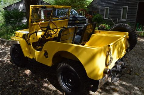willys jeep gas mileage 1946 cj2a willys jeep with rear pto new brakes gas tank