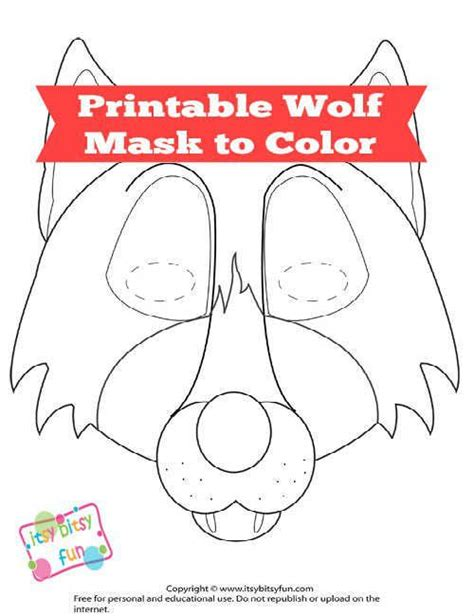 printable mask wolf free printable wolf mask template wolf mask wolf and