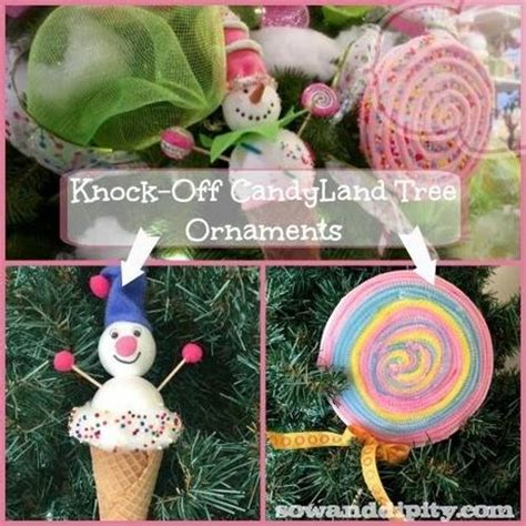 diy candyland tree ornaments paperblog