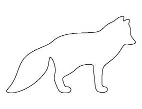 template of a fox arctic fox pattern use the printable outline for crafts