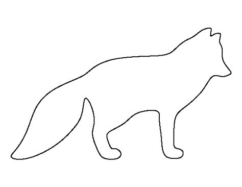 template of a fox arctic fox clipart template pencil and in color arctic