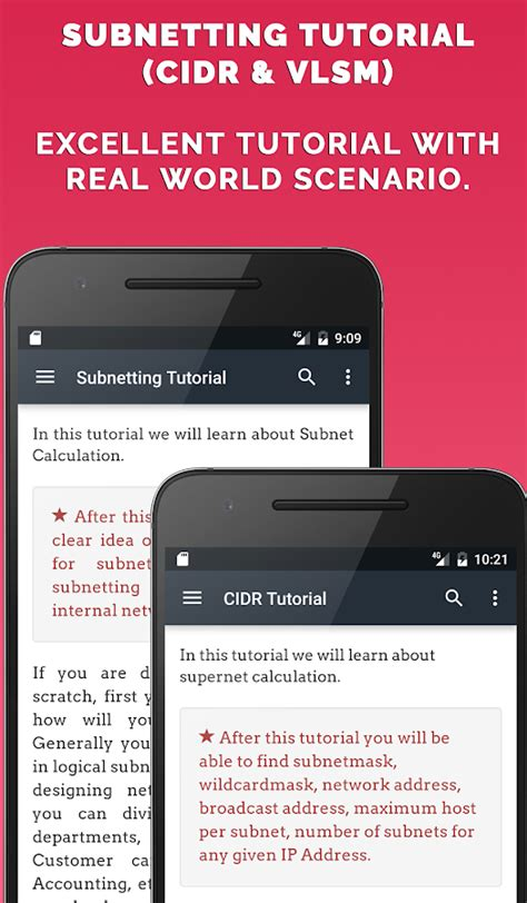 subnetting tutorial cidr ip calculator android apps on google play
