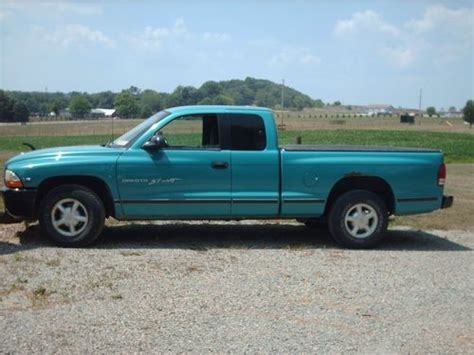 sell used 1997 dodge dakota sport extended cab teal blue in canton ohio united states
