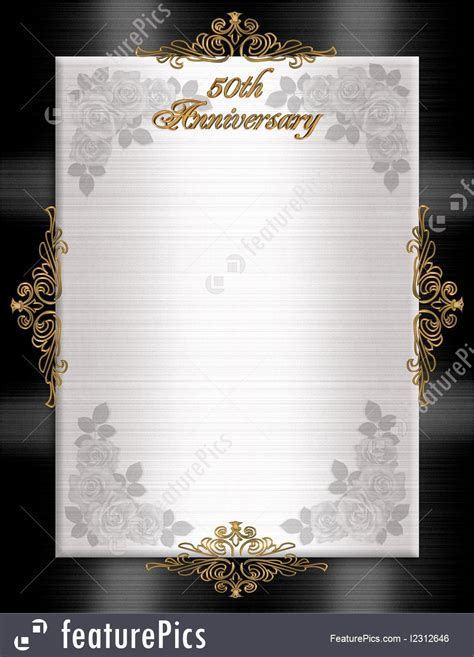Templates: 50Th Anniversary Formal Invitation   Stock