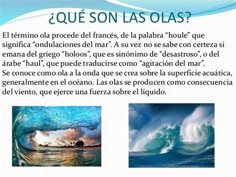 olas oscilacion y traslacion las olas