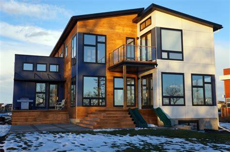passive house windows canada jetson green prefab hive modular house in canada incorporates passive home concepts