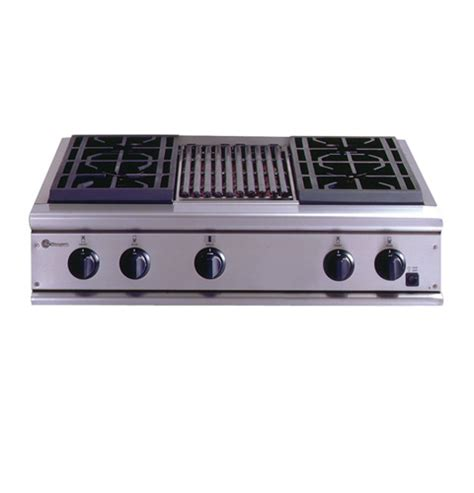gas cooktop with grill 36 zgu36n4ryss ge monogram 174 36 quot professional gas cooktop