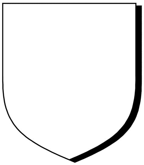 school shield template blank coat of arms template clipart best