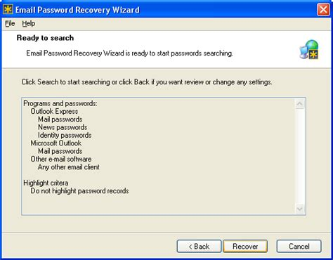 Person Search By Email Address Free If You Forget Your Nokia Password Software Email Password Recovery Wizard