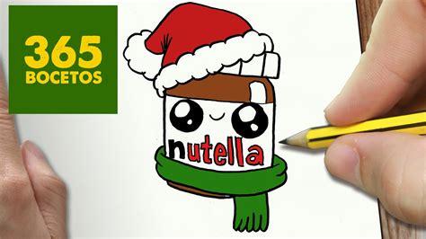 imagenes kawaii nutella como dibujar un nutella para navidad paso a paso dibujos