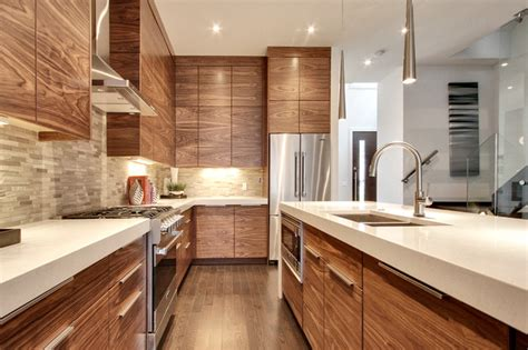 Kitchen Faucets Calgary grain matched walnut
