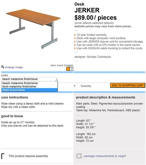 how much does a desk cost jerkersearcher com everything ikea jerker including