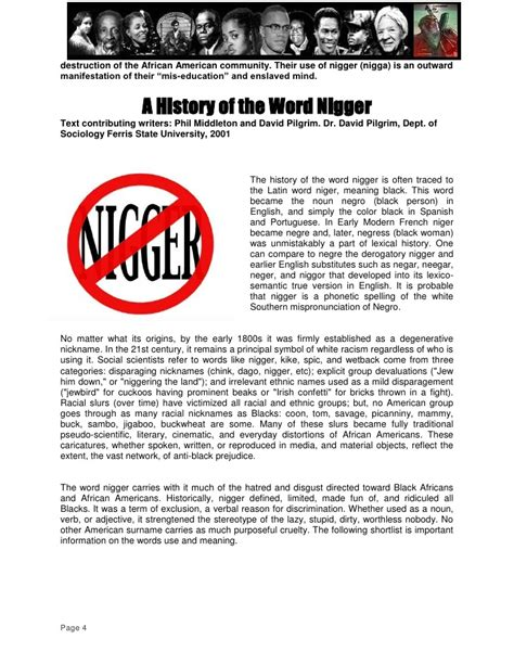 origin of the word rbg on quot a history of the word and black self hatred quot