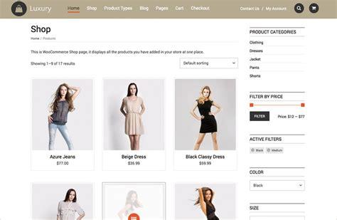 wordpress themes free luxury luxury wordpress theme full woocommerce compatible theme