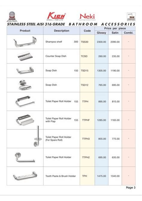 List Of Bathroom Accessories Product Range Of Inarch Gallery Where We Provide Our Customer Range Of Bath Fittings