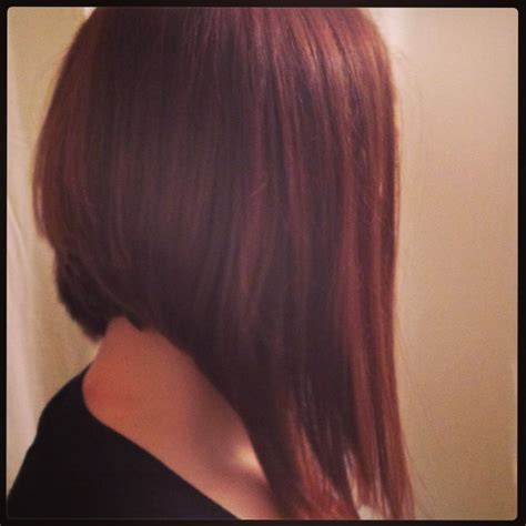 angled bob no bangs red hair long inverted bob my stuff pinterest