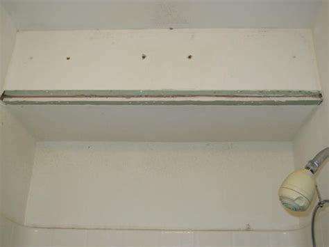 bathroom drywall code bathroom shower metal corner drywall bead rusted need dryall patching advice