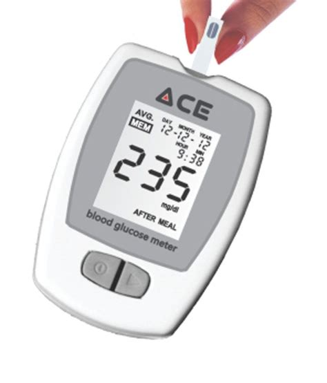 Lu 10 Meter ace glucometer kit with 10 blood glucose test strips buy