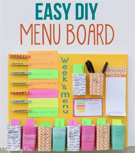 easy diy easy diy weekly menu board