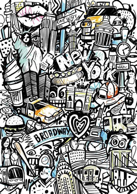 new doodle new york doodle stok vekt 246 r 169 mixformdesign 56612551