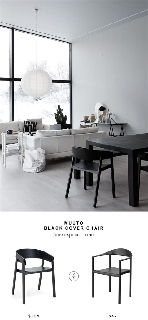 copycat chic desk chair muuto black cover chair copycatchic