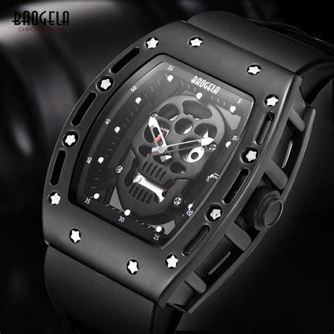 Jam Tangan Fashion Casual S Analog Quartz Wristwatch Waterpro baogela mens silicone analogue quartz watches fashion wateproof skeleton wristwatch for