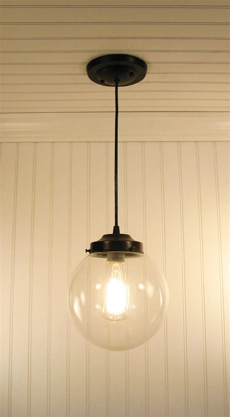 Globe Pendant Light Fixtures Biddeford Clear Globe Pendant Light